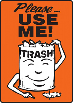 Image result for woolworths trash can cartoon